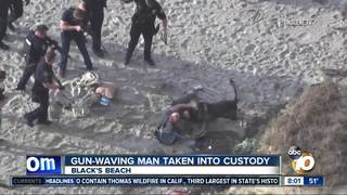 Gun-wielding man arrested at Black's Beach