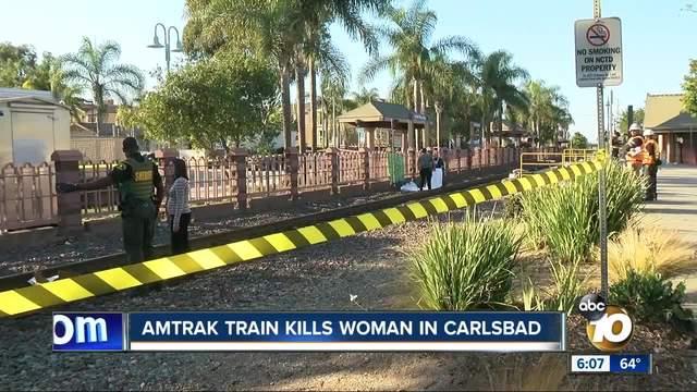 Amtrak train kills woman in Carlsbad