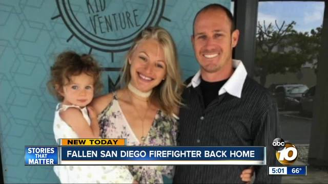 Firefighter killed in Thomas Fire hailed as hero from Ventura to San Diego