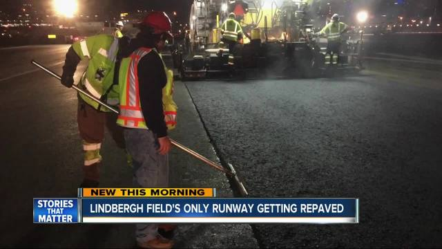 San Diego airport-s only runway getting repaved nightly