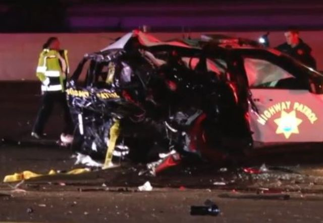 Two CHP officers hurt in crash on I-880 in Hayward