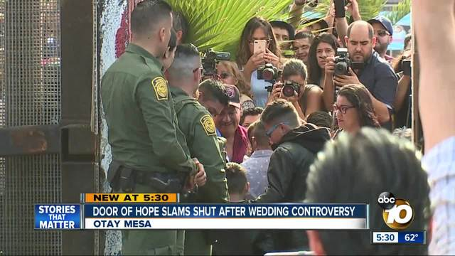 39 door of hope 39 slams shut after border wedding controversy for Door of hope san diego