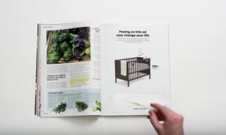 IKEA wants customers to pee on its ad