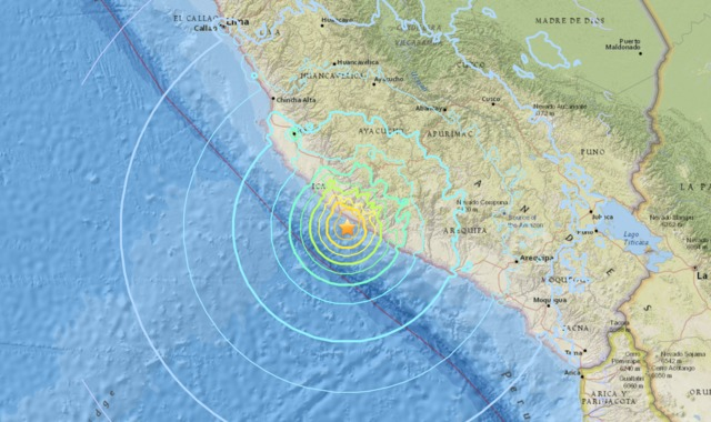 Magnitude-7.1 quake hits off Peru, killing at least two