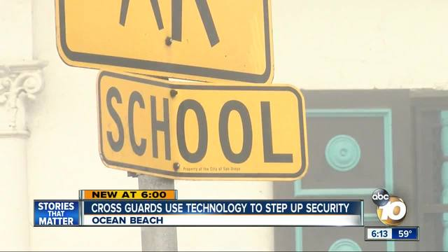 Crossing guards use technology to step up security