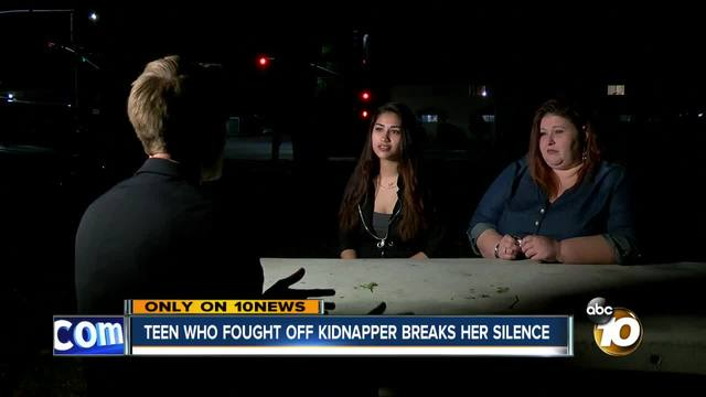 Teen who fought of kidnapper breaks her silence