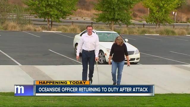 Oceanside officer returns to work after attack