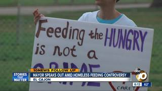 Mayor talks about homeless feeding controversy