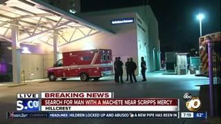 Man with machete outside Scripps Mercy Hospital