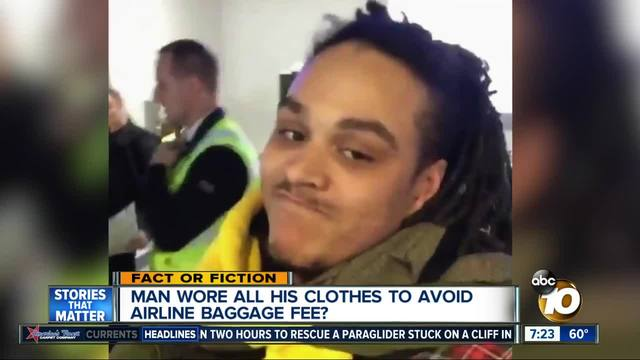 Man arrested for wearing all his clothes to avoid excess baggage fee