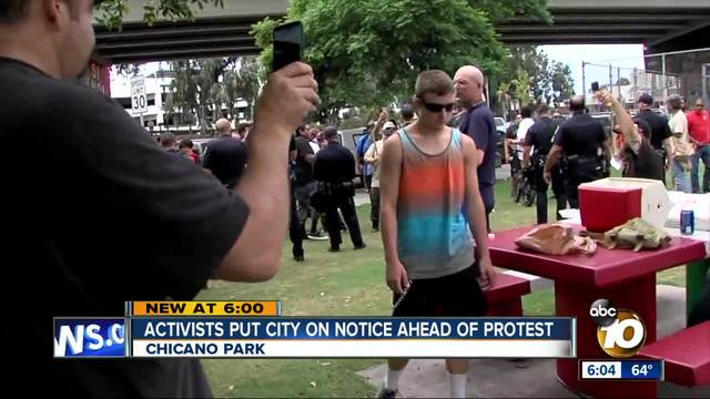 Activists put city on notice ahead of protest
