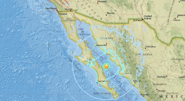 Natural disaster shakes Baja California, Central Mexico