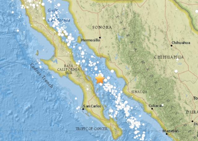 earthquake shakes baja california central mexico