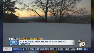 Winter weather has arrived in San Diego County