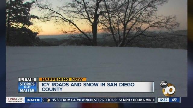 Winter Weather Has Arrived To San Diego County Newscom KGTV - Live doppler radar san diego