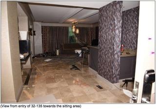 Photos show Las Vegas gunman's hotel room