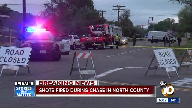 Deputy fires shots at stolen car