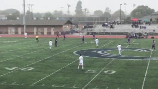 Rain falls on Coronado during soccer game