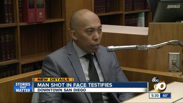 Man shot in face testifies