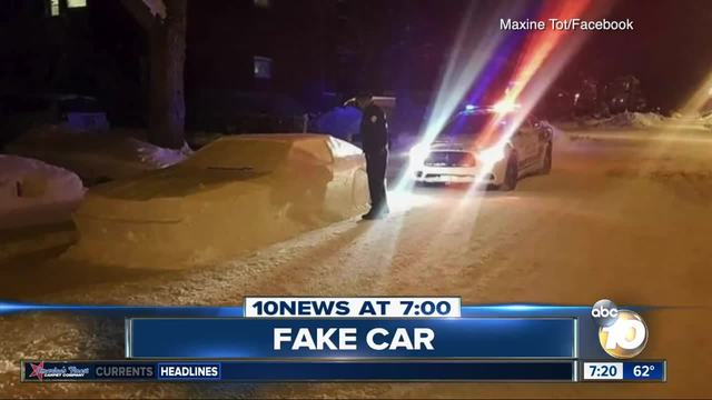 Man fools cops with fake vehicle made of snow