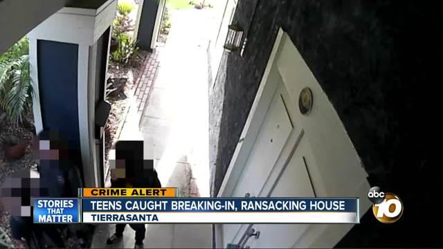 Teens caught breaking-in- ransacking house