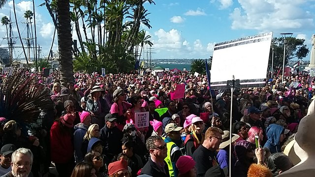 Social response: Women's March 2018 in San Diego