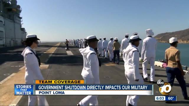 U-S- military is taking blows from the government shutdown