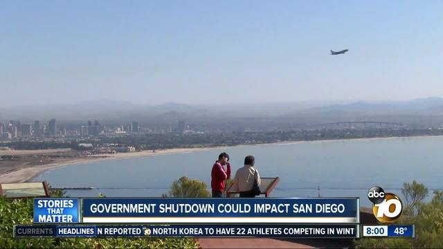 Government shutdown could effect San Diego