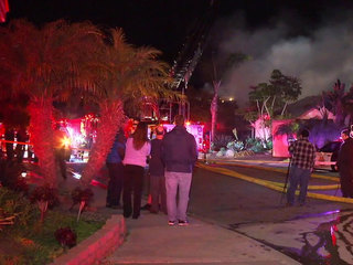 Woman burned as she escapes Encinitas house fire