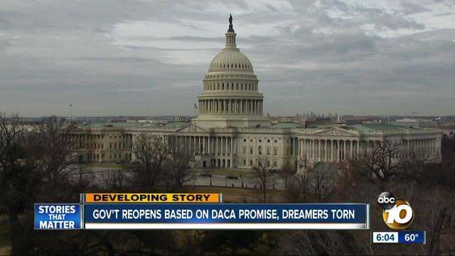 DACA in limbo as stopgap bill moves ahead