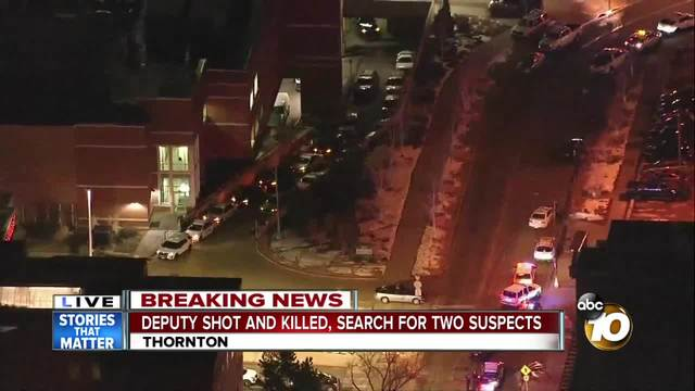 Deputy killed outside Denver, one suspect in custody
