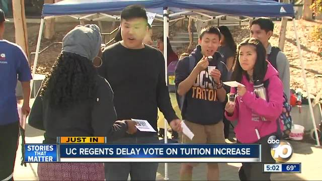 UC Regents Delay Tuition Hike Vote