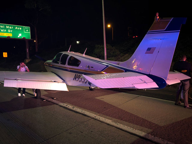 Plane Makes Emergency Landing On Costa Mesa Freeway After Engine Failure