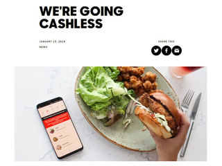 Tender Greens is no longer accepting cash