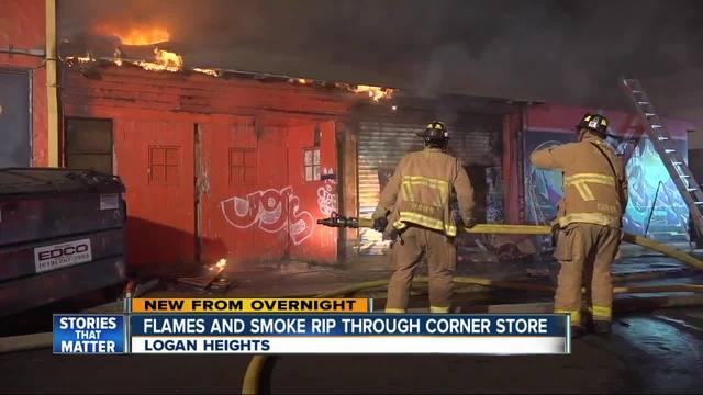 Fire Rips Through Logan Heights Store Kgtv Tv San Diego