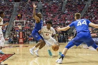 Aztecs stay hot at home with lopsided 81-50...