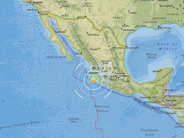 earthquake reported off mexicos pacific coast