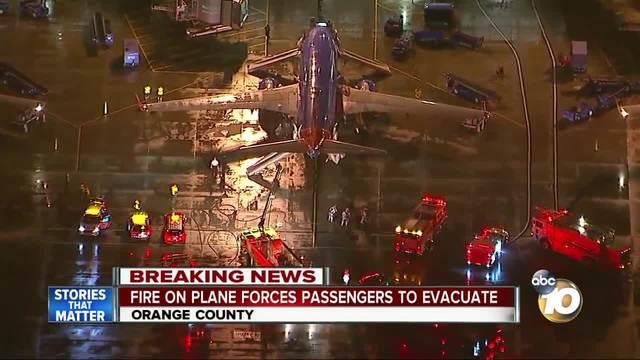 Southwest plane passengers forced to evacuate before takeoff at John Wayne Airport