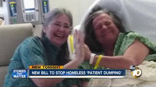 New bill to end homeless 'patient dumping'