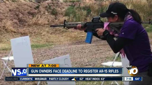 Gun owners face deadline to register AR-15 rifles