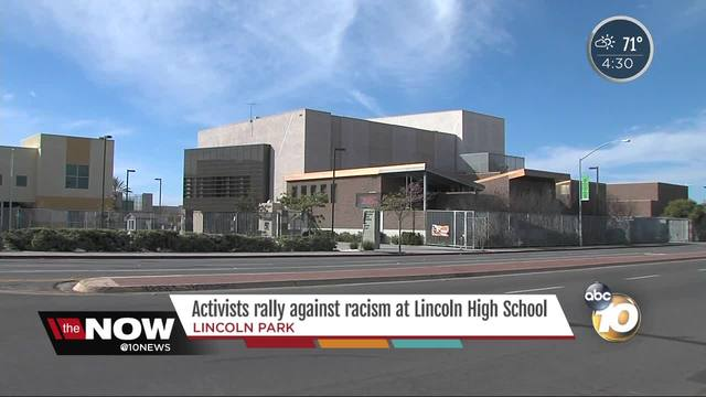 Activists rally against racism at Lincoln High