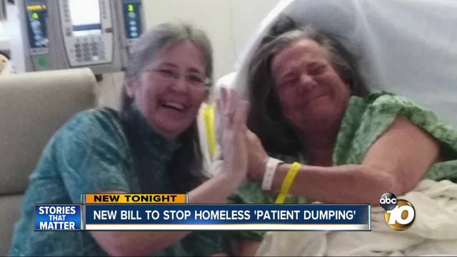 New bill to stop homeless -patient dumping-