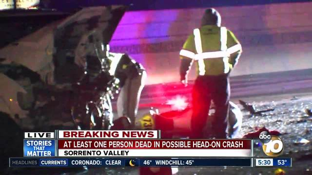 At least one person dead in Sorrento Valley crash