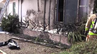 Man sets house on fire torching weeds
