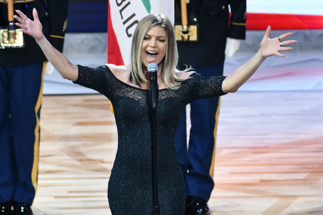 NBA All-Star Game 2018: Fergie performs National Anthem