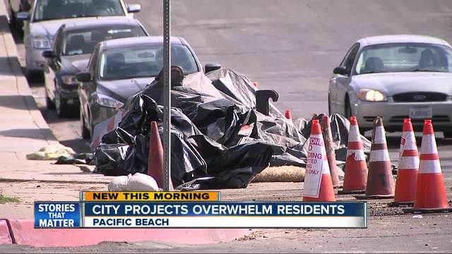 Pipe projects in Pacific Beach Irk Residents