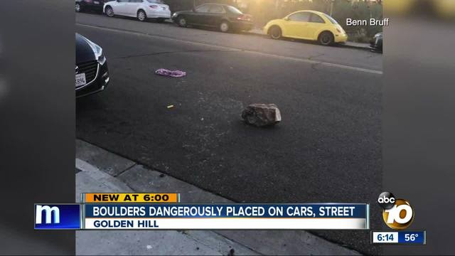 Golden Hill residents worried over large rocks being left in streets- on…