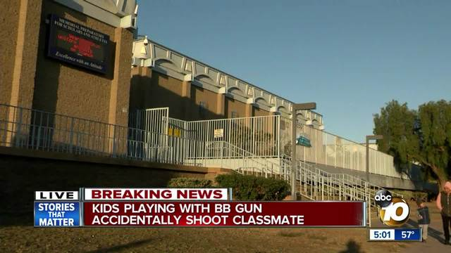 Kids playing with BB gun accidentally shoot classmate