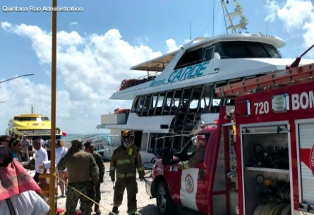 At least 13 injured after 'explosion' on board ferry at Mexico resort