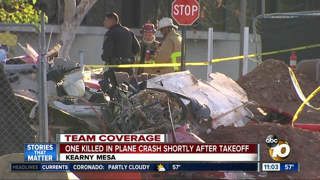 Pilot killed in crash of small plane near San Diego airfield
